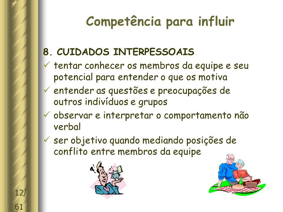 Competência para influir