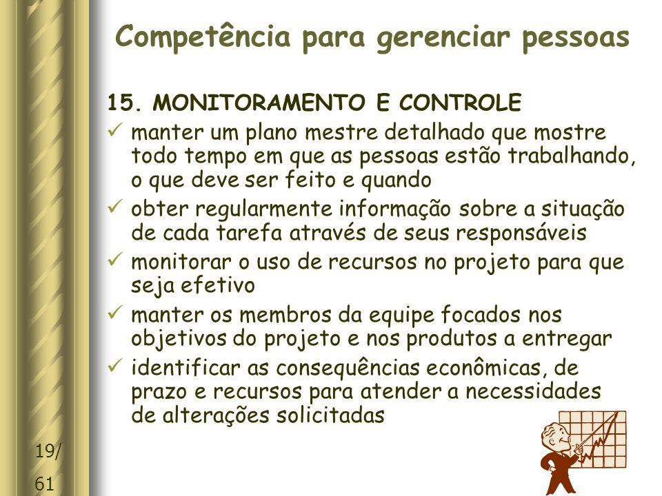 Competência para gerenciar pessoas