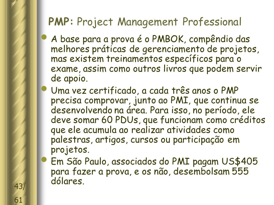 PMP: Project Management Professional