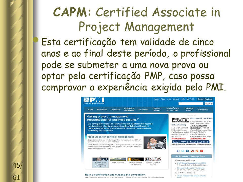 CAPM: Certified Associate in Project Management