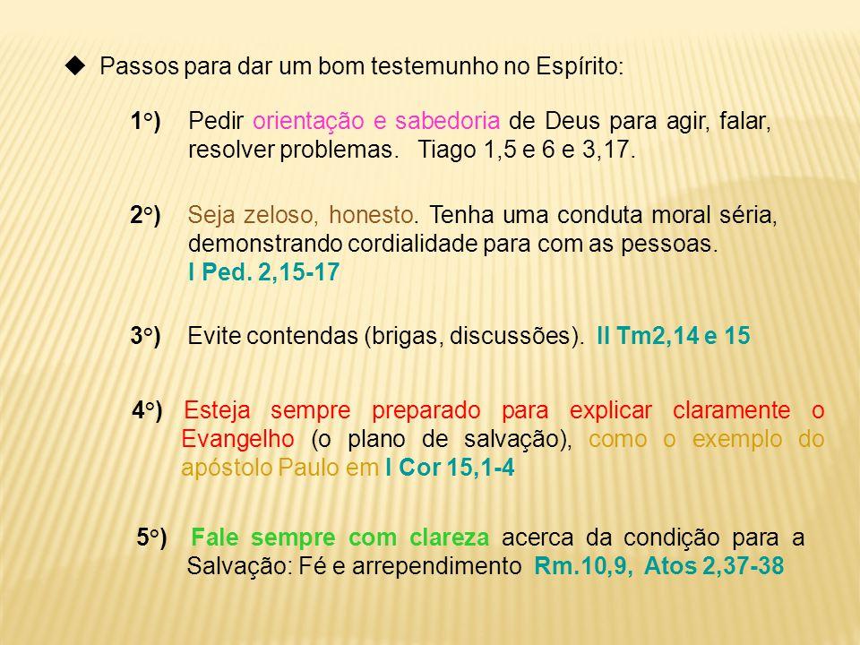  Passos para dar um bom testemunho no Espírito: