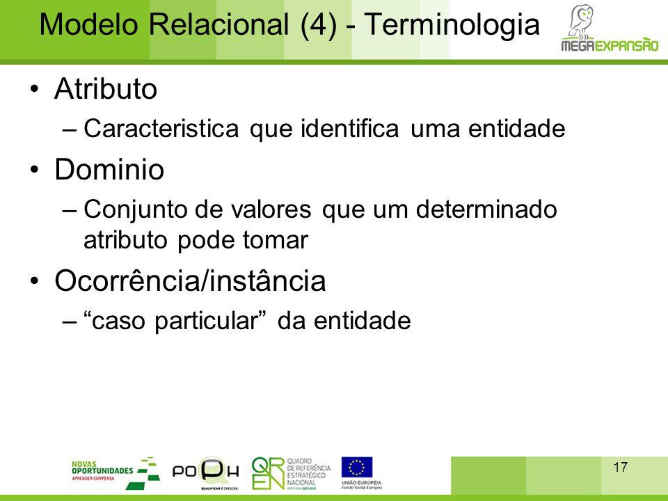Modelo Relacional (4) - Terminologia