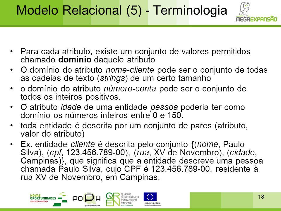 Modelo Relacional (5) - Terminologia