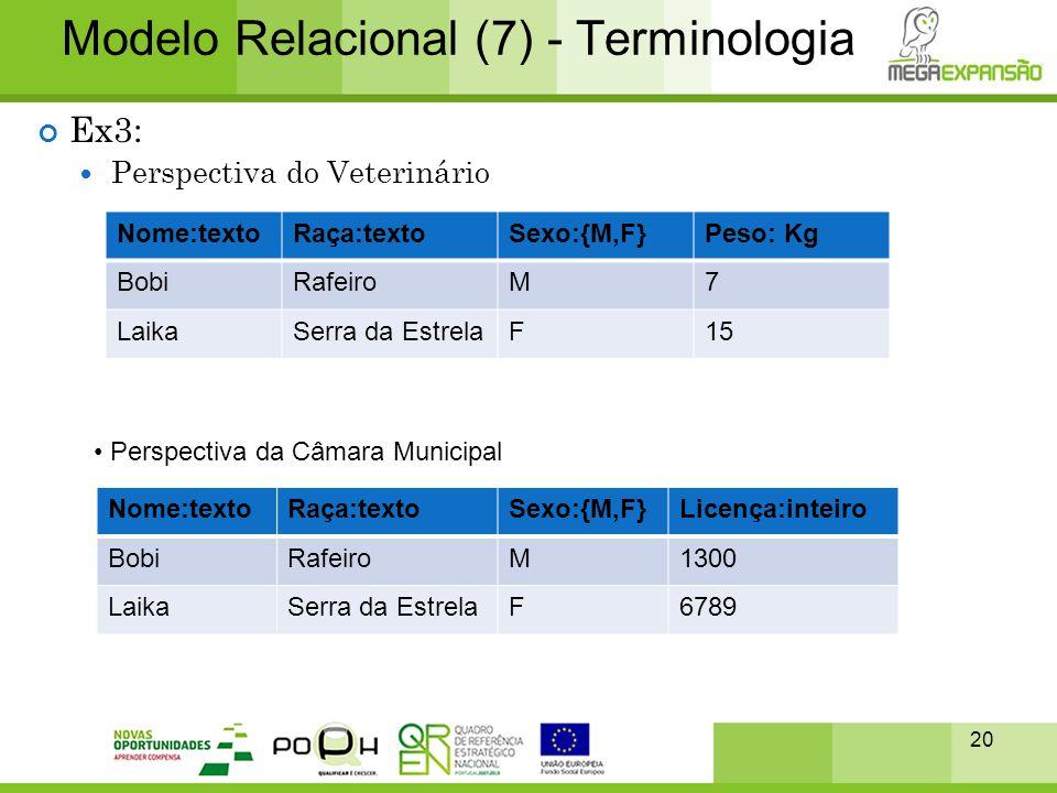 Modelo Relacional (7) - Terminologia