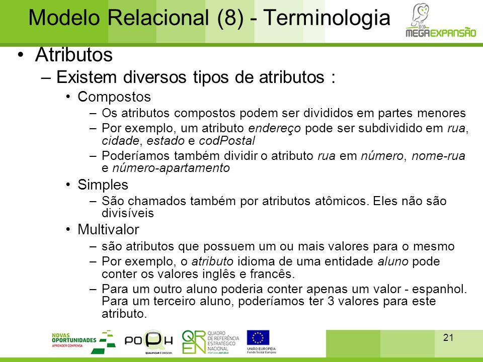 Modelo Relacional (8) - Terminologia
