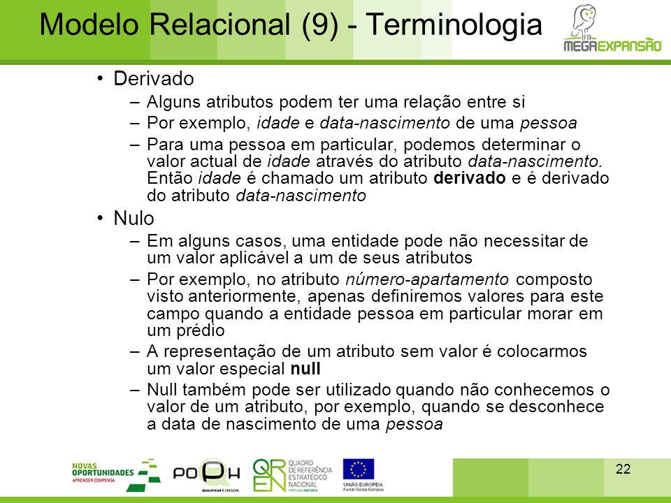 Modelo Relacional (9) - Terminologia