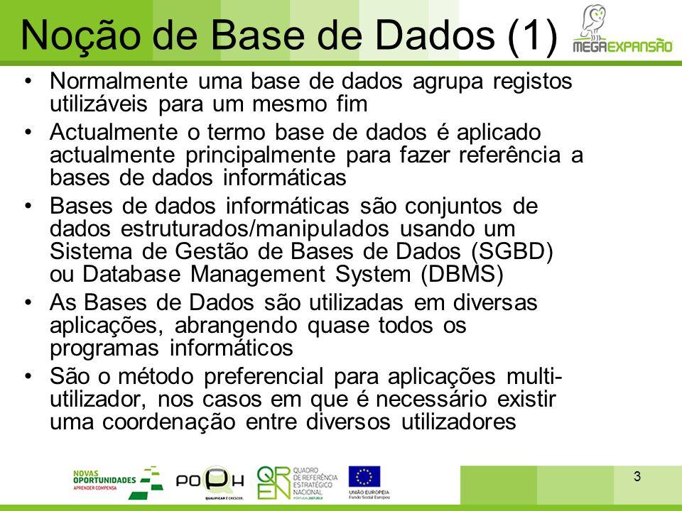 Noção de Base de Dados (1)