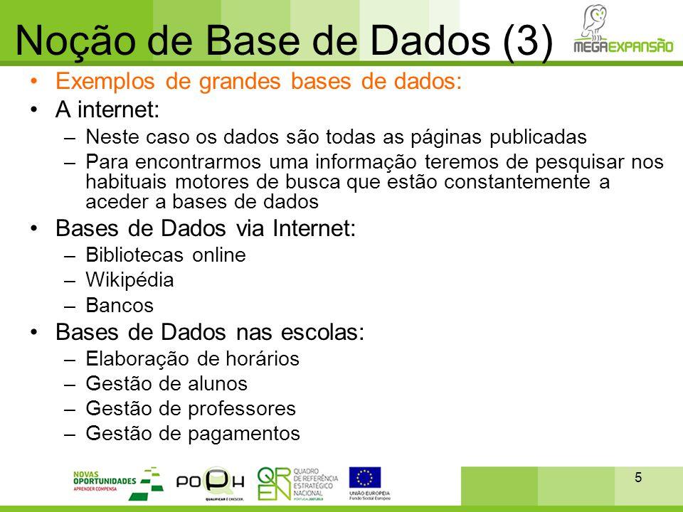 Noção de Base de Dados (3)