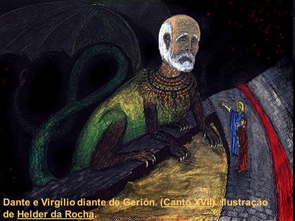 Dante e Virgílio diante de Gerión. (Canto XVII)