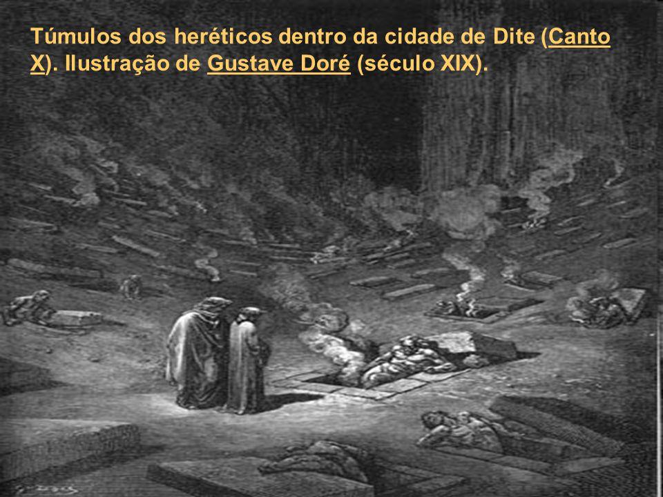 Túmulos dos heréticos dentro da cidade de Dite (Canto X)