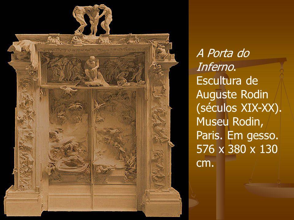 A Porta do Inferno. Escultura de Auguste Rodin (séculos XIX-XX)