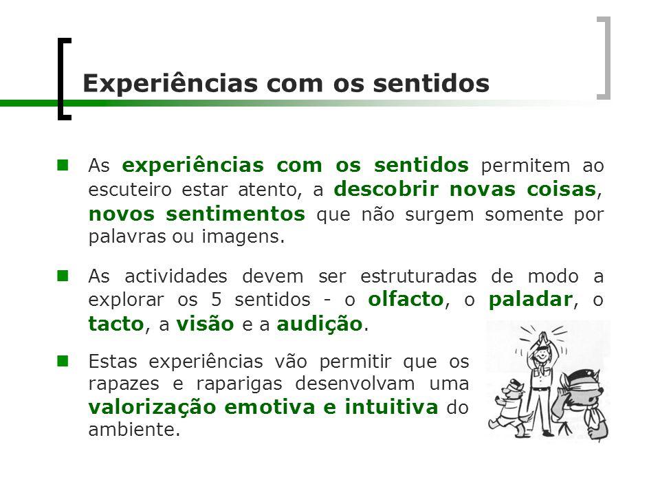 Experiências com os sentidos