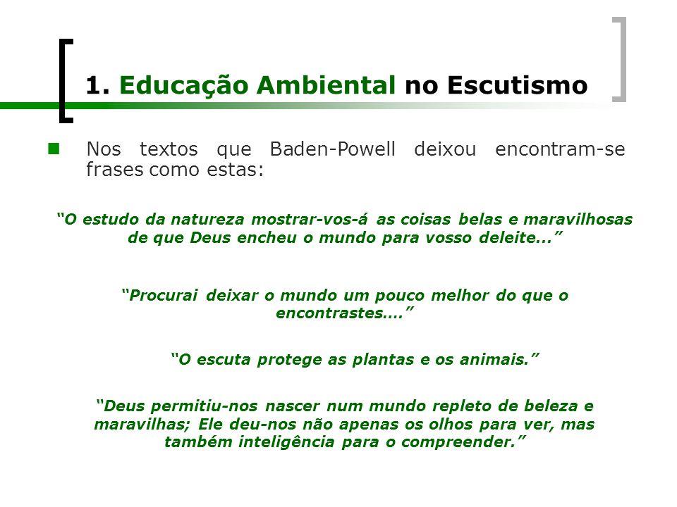 1. Educação Ambiental no Escutismo