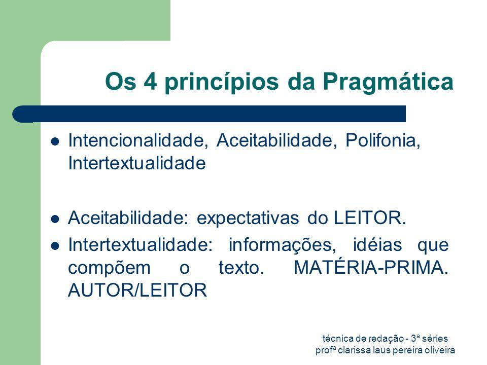 Os 4 princípios da Pragmática