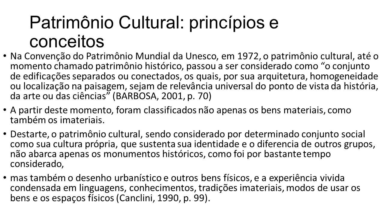 Patrimônio Cultural: princípios e conceitos