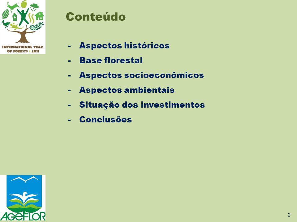 Conteúdo Aspectos históricos Base florestal Aspectos socioeconômicos