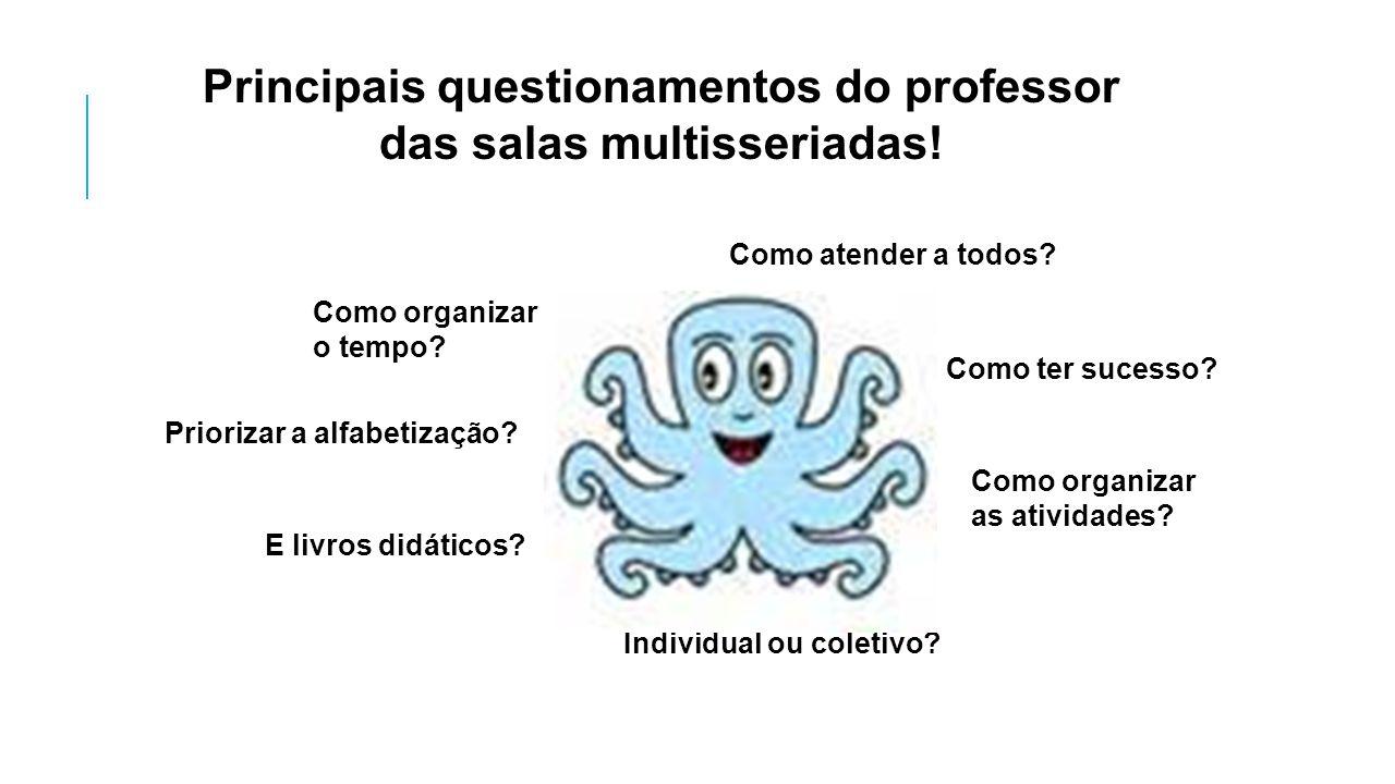 Principais questionamentos do professor das salas multisseriadas!