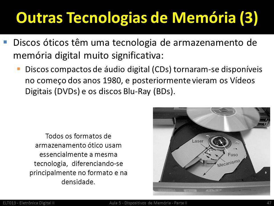 Outras Tecnologias de Memória (3)
