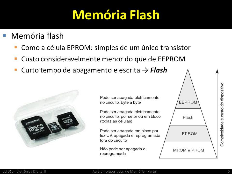 Memória Flash Memória flash