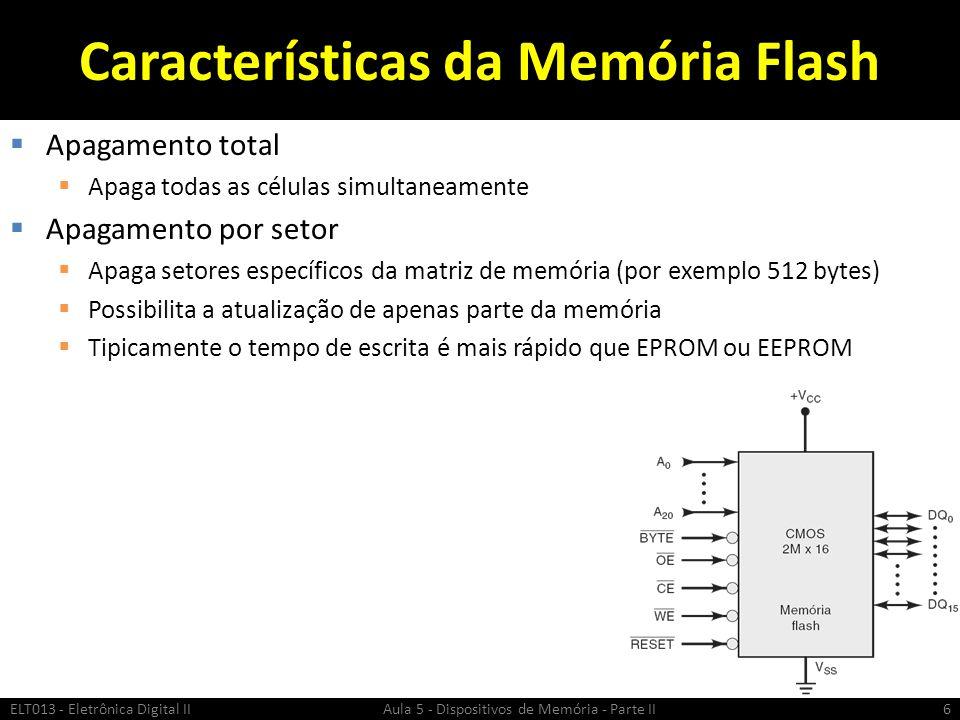 Características da Memória Flash