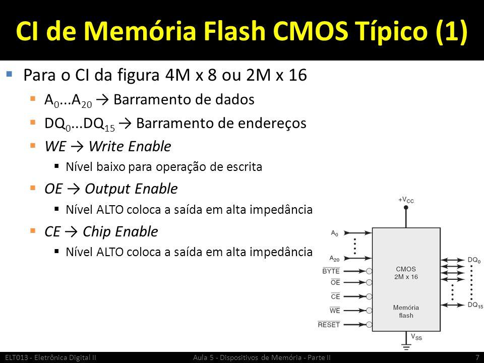 CI de Memória Flash CMOS Típico (1)