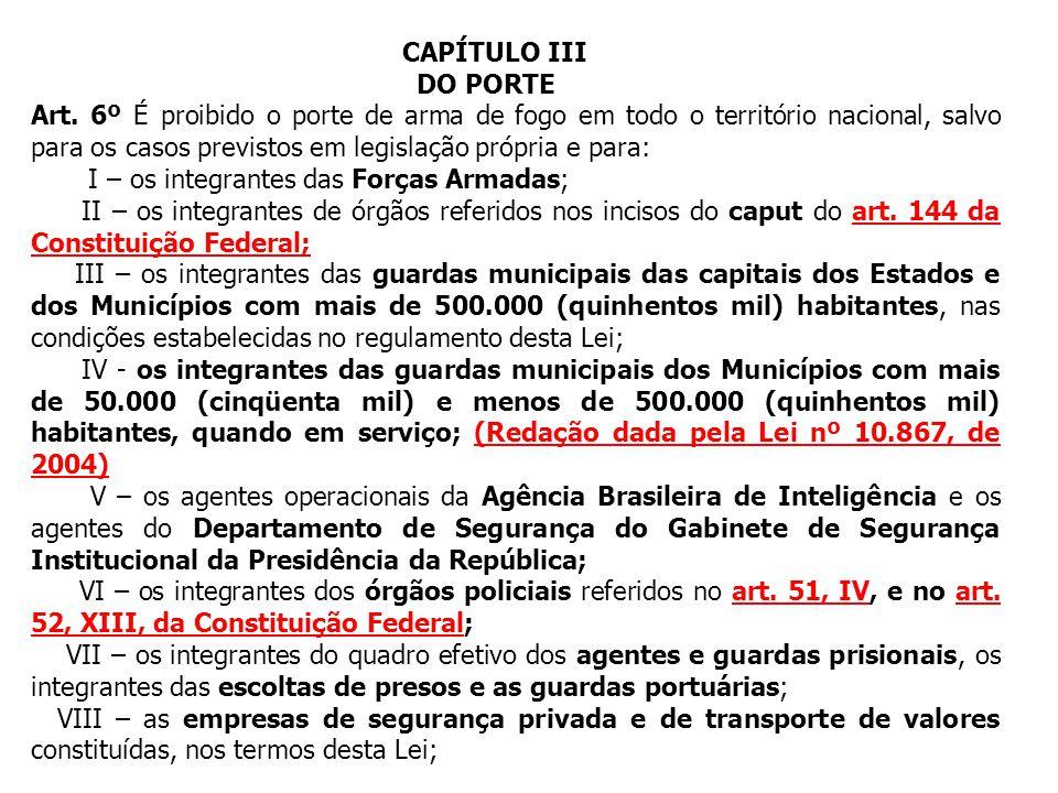CAPÍTULO III DO PORTE.