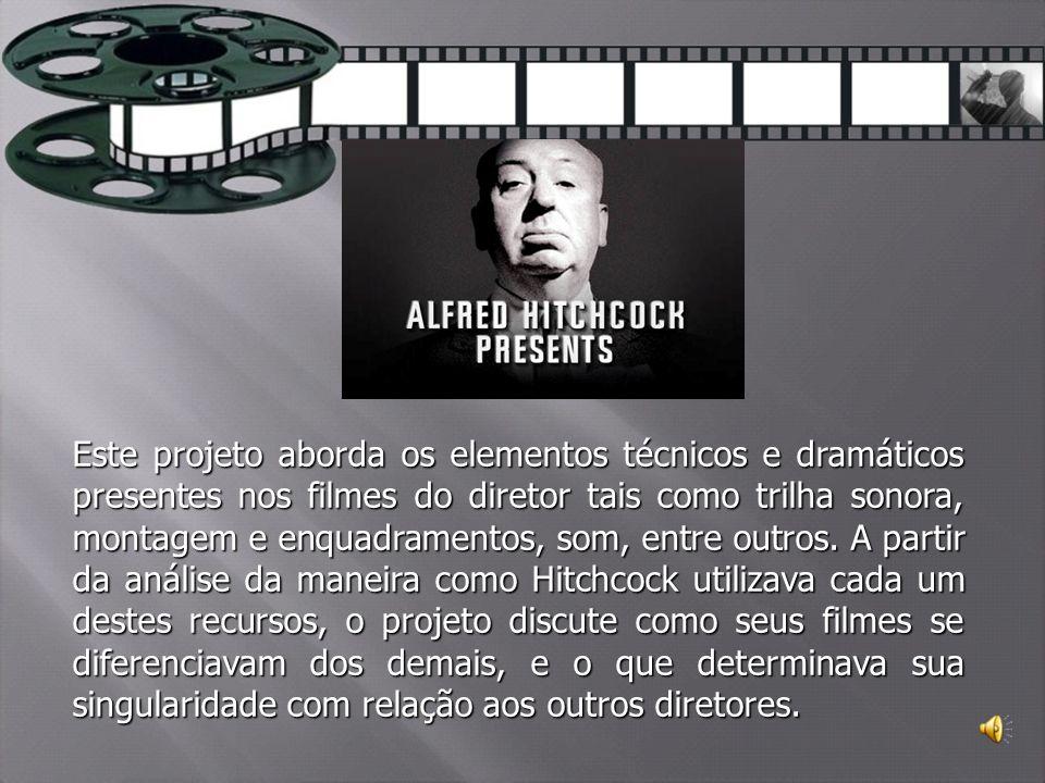 Este projeto aborda os elementos técnicos e dramáticos presentes nos filmes do diretor tais como trilha sonora, montagem e enquadramentos, som, entre outros.