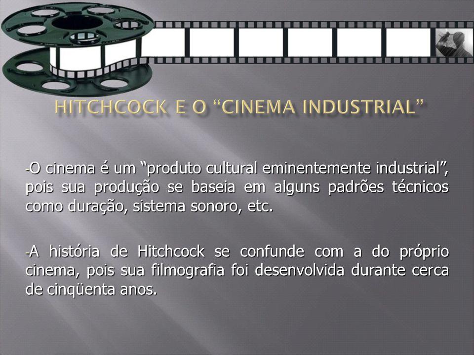O cinema é um produto cultural eminentemente industrial , pois sua produção se baseia em alguns padrões técnicos como duração, sistema sonoro, etc.