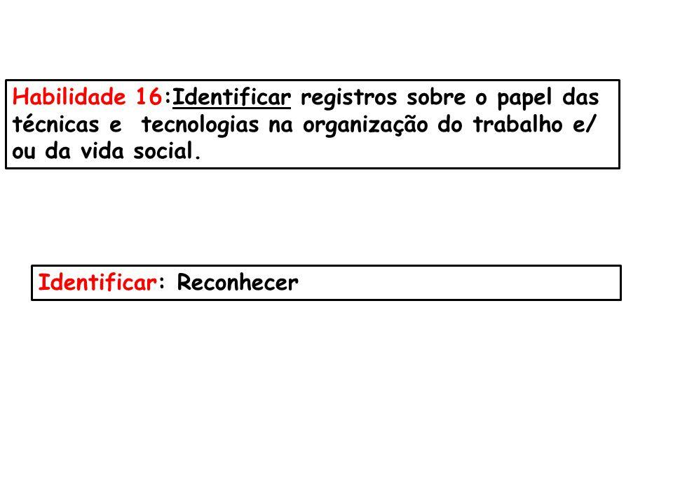 Habilidade 16:Identificar registros sobre o papel das
