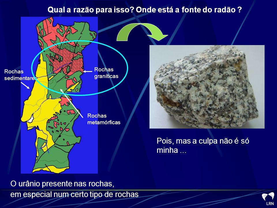 Qual a razão para isso Onde está a fonte do radão