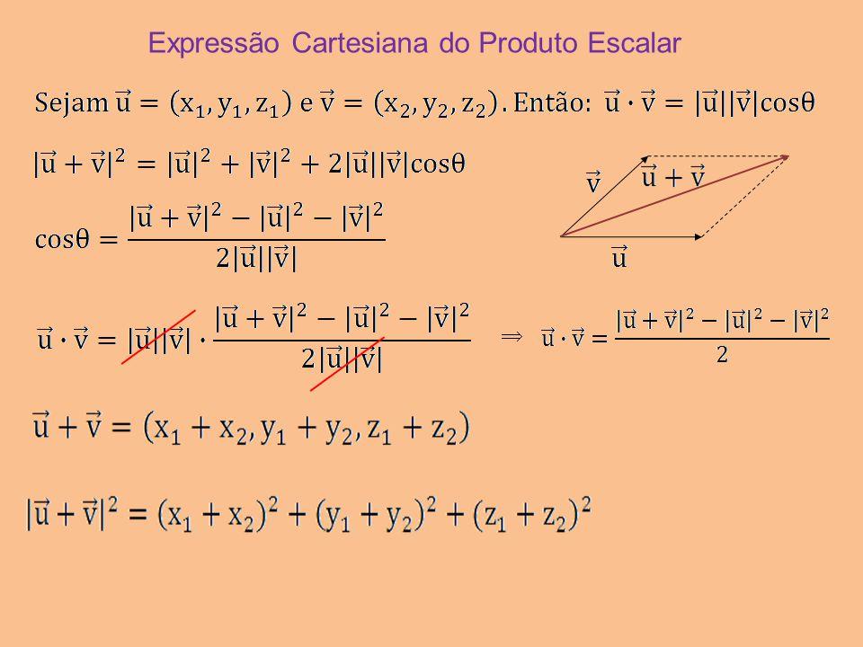 Expressão Cartesiana do Produto Escalar