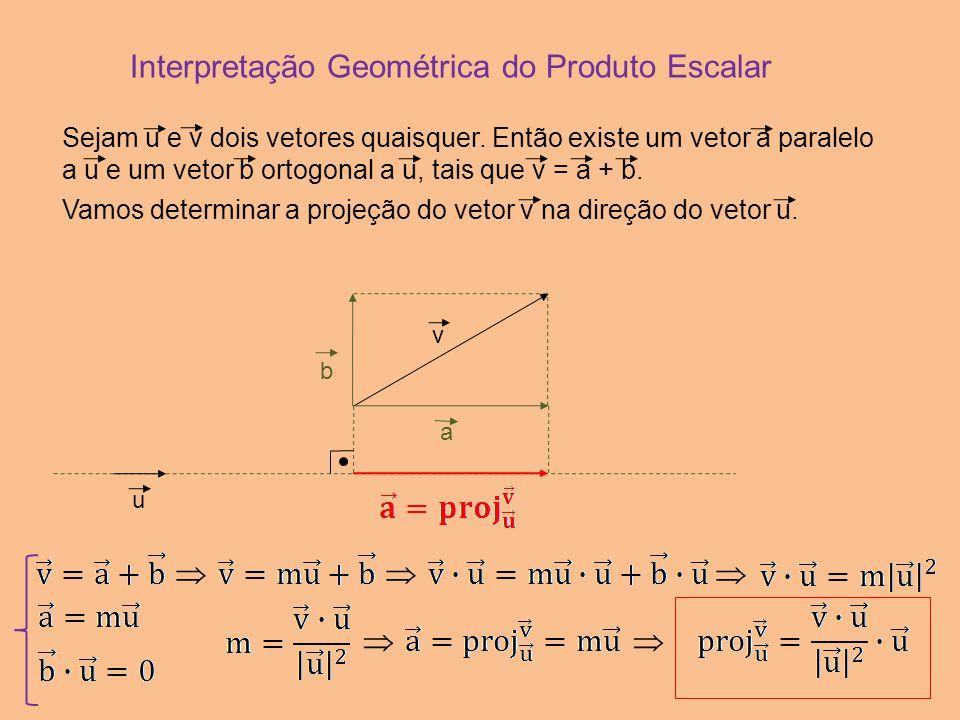 Interpretação Geométrica do Produto Escalar