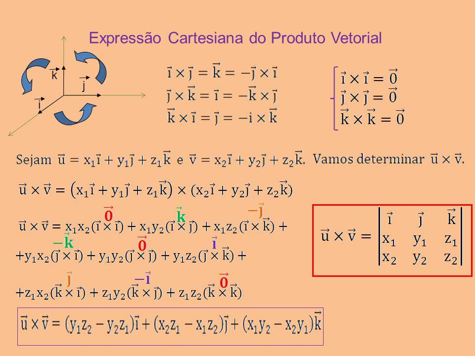 Expressão Cartesiana do Produto Vetorial