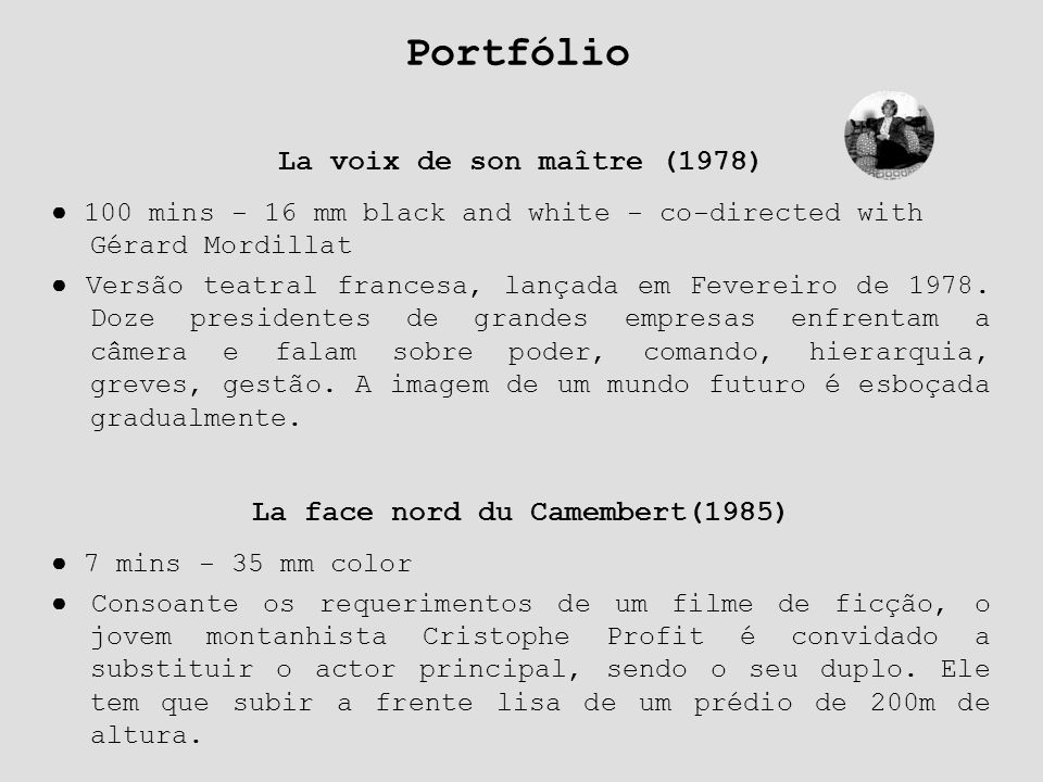 La face nord du Camembert(1985)