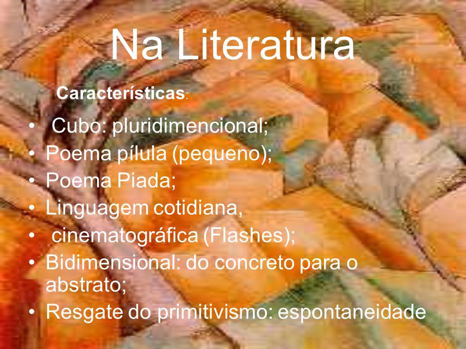Na Literatura Cubo: pluridimencional; Poema pílula (pequeno);