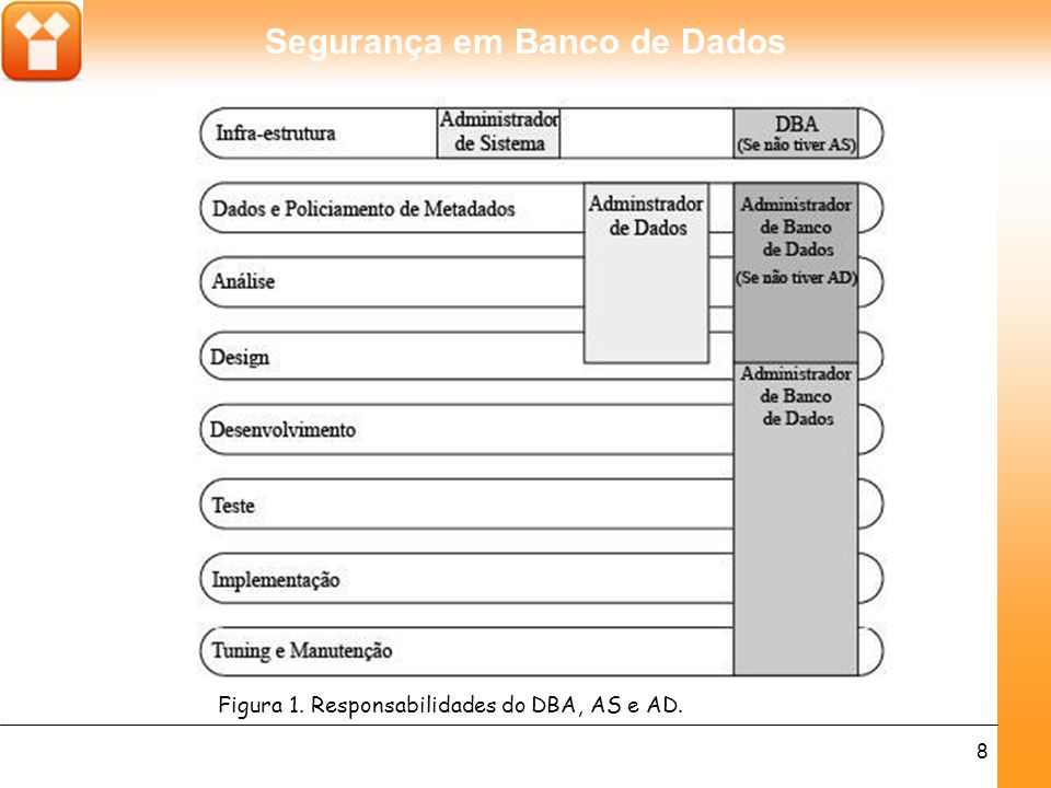 Figura 1. Responsabilidades do DBA, AS e AD.