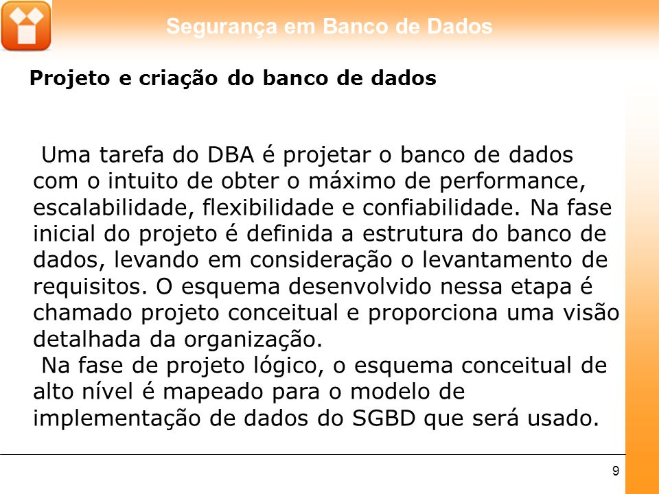 Projeto e criação do banco de dados