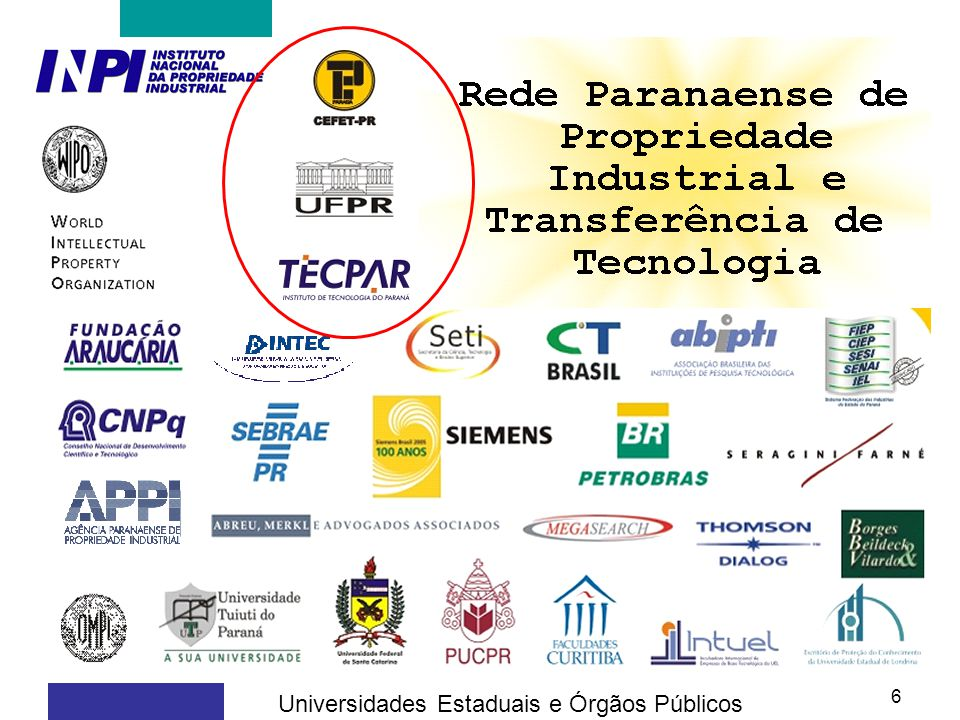 Universidades Estaduais e Órgãos Públicos