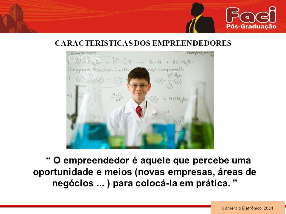CARACTERISTICAS DOS EMPREENDEDORES