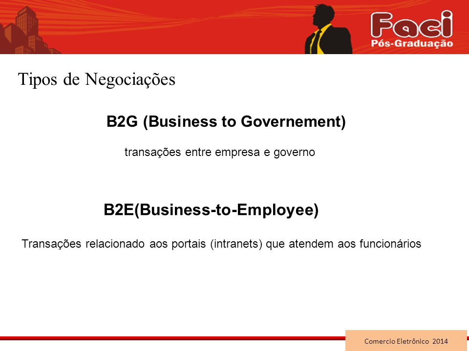 Tipos de Negociações B2E(Business-to-Employee)