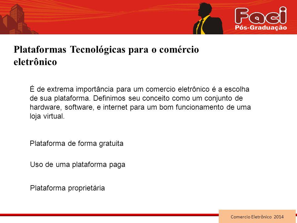Plataformas Tecnológicas para o comércio eletrônico