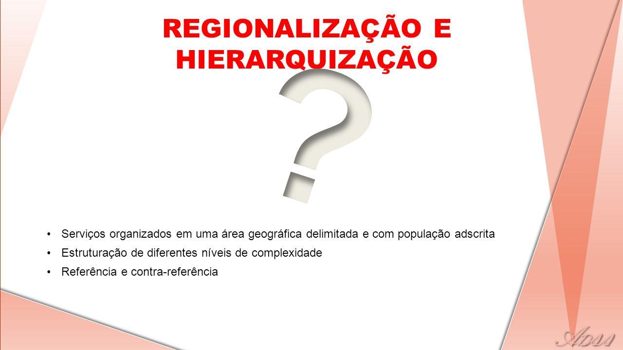 REGIONALIZAÇÃO E HIERARQUIZAÇÃO