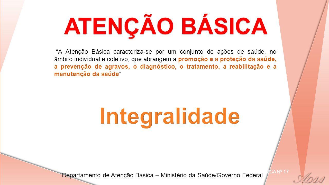 ATENÇÃO BÁSICA Integralidade