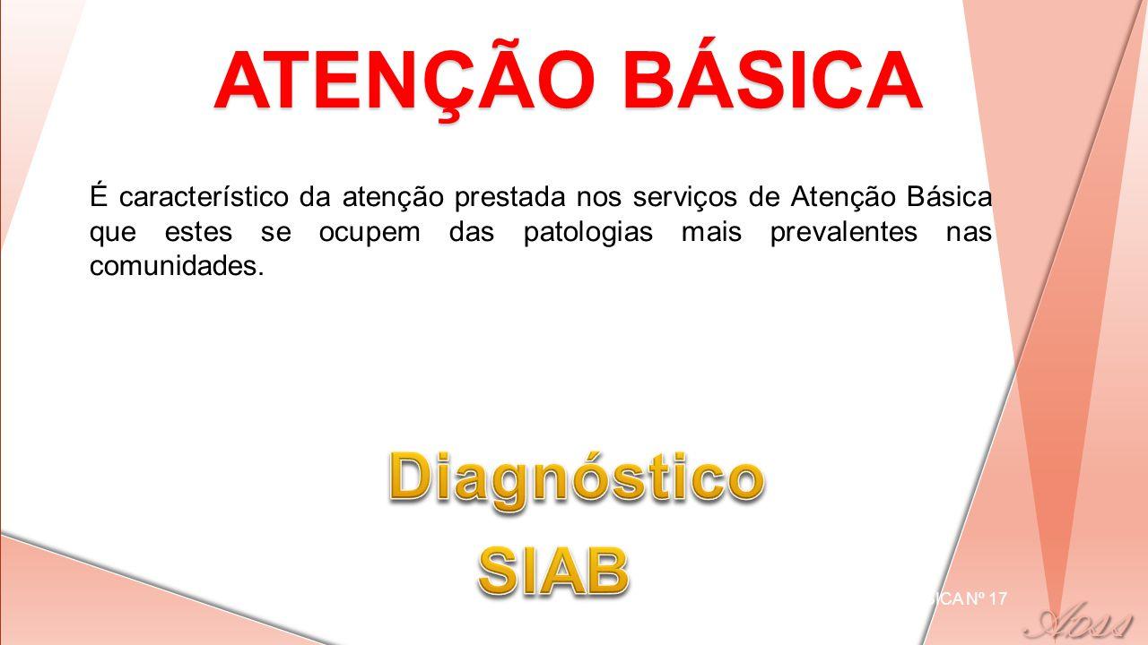 ATENÇÃO BÁSICA Diagnóstico SIAB