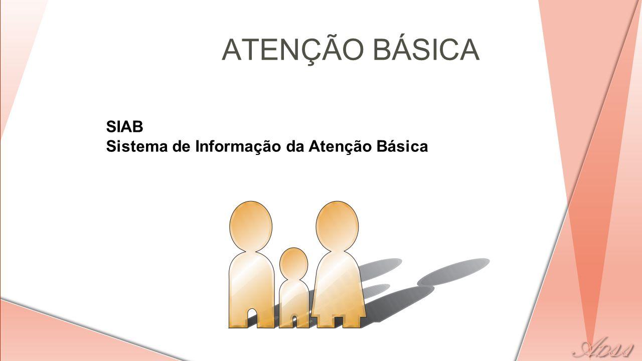 ATENÇÃO BÁSICA SIAB Sistema de Informação da Atenção Básica