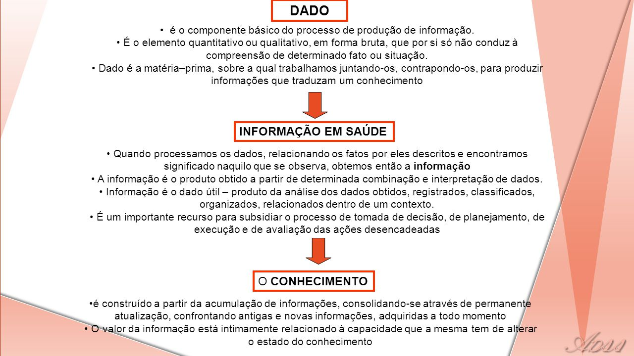 é o componente básico do processo de produção de informação.