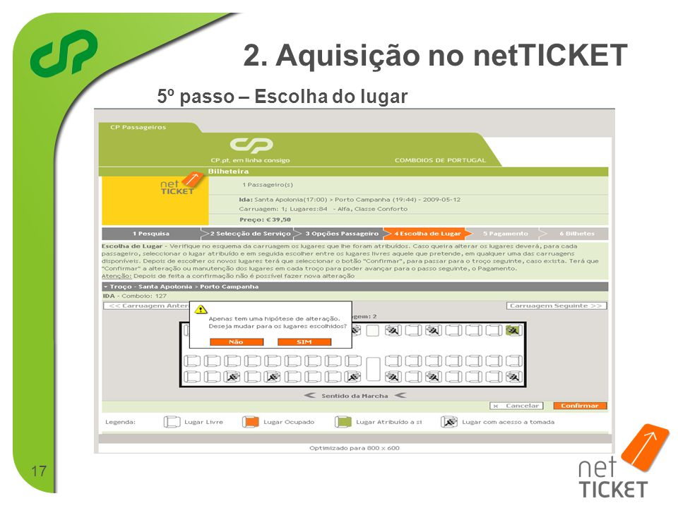 2. Aquisição no netTICKET