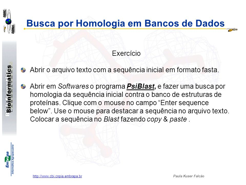 Busca por Homologia em Bancos de Dados