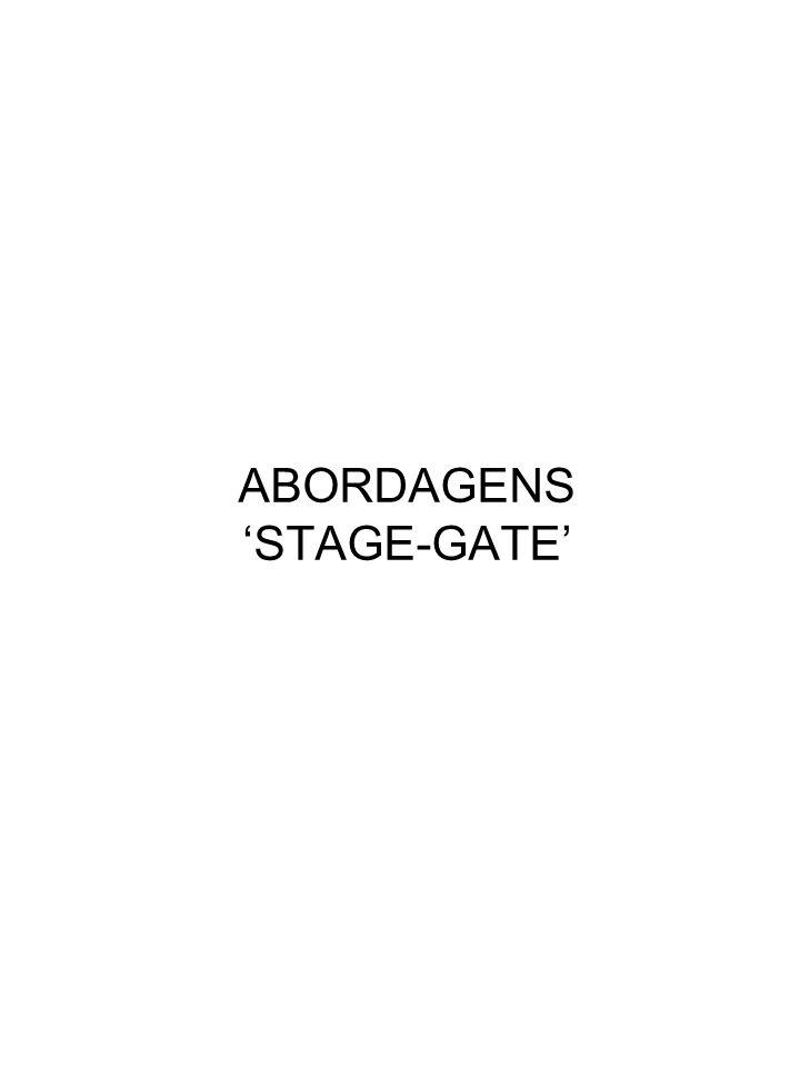 ABORDAGENS 'STAGE-GATE'