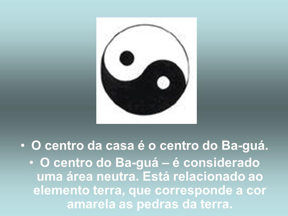 O centro da casa é o centro do Ba-guá.